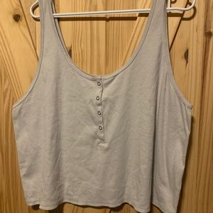 Wild Fable Stormy Gray tank Top Size 3x